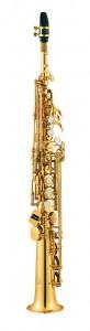 Jupiters 747 sopransaxofon. Er med i vores sortiment primært pga Jupiters generelt høje kvalitetsniveau - og især de to halse