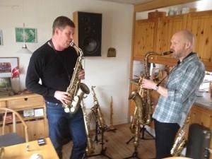 P. Mauriat altsaxofoner bliver testet hos Saxofonværkstedet