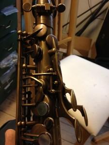 P. Mauriat PMXT-66RUL tenorsaxofon. Klangen er stor og meget varm, hvilket jeg især tilskriver de rullede tonehuller