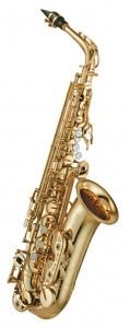 Yamaha altsax YAS 62 med guldlak. Professionel saxofon