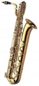 Professionel barytonsaxofon i messing. B-991 fra Yanagisawa