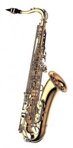 Yanagisawa tenorsax T 901. Saxofonen er lettere at stemme og blæse op på grund af vægten